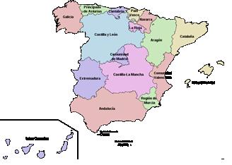 Mapa CCAA